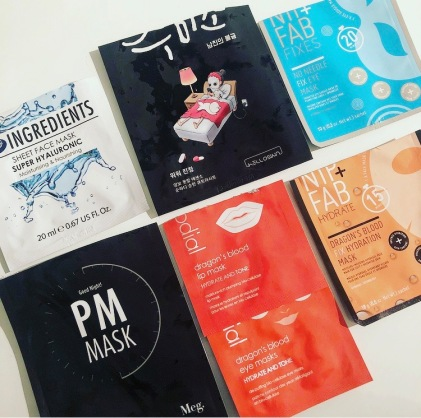 March Empties Sheet Masks Eyemasks Hydrate