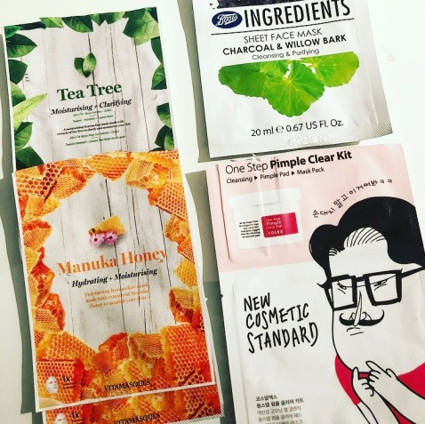 March Empties Sheet masks vitamasques
