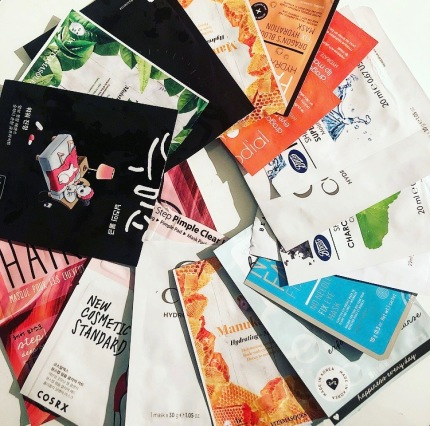 March Empties Sheet Masks