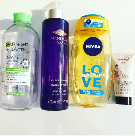 Garnier micellar nivea love sun percy & reed hair mask
