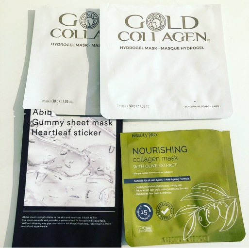 gold collegen mask, beautypro mask, abib mask